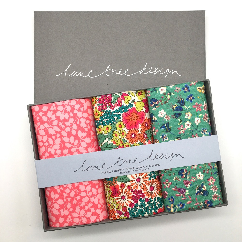 Happy Days Set of 3 Liberty Print Cotton Handkerchiefs