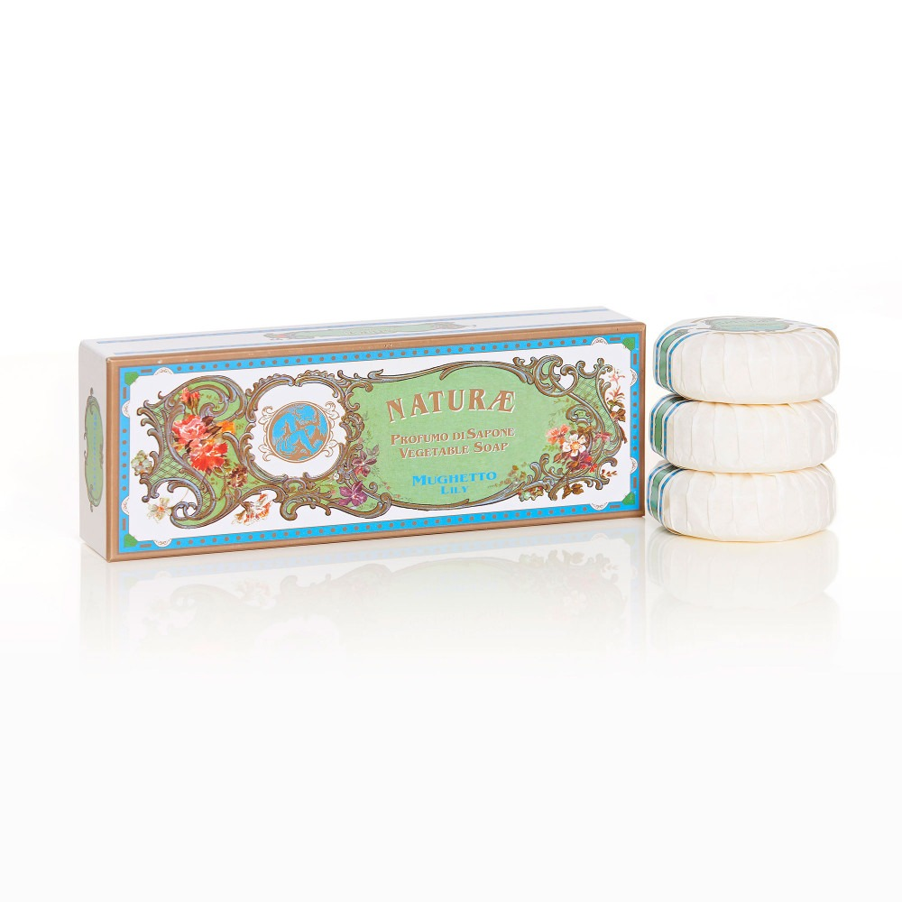 Naturae By Franco Zarri Lily Of The Valley Box Of 3 Soaps
