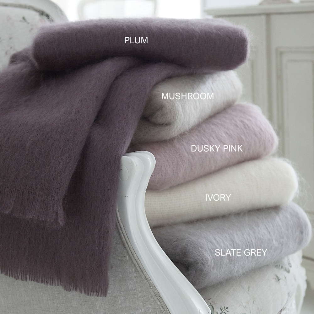 Mohair Throws Soft Natural Colours
