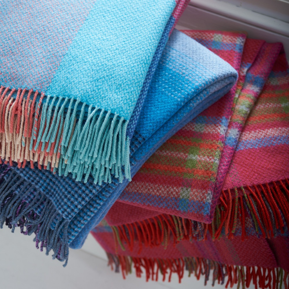 Merino & Cashmere Multi Coloured Throws
