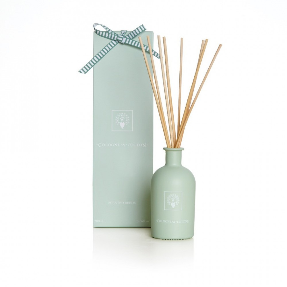 Cologne & Cotton Diffuser & Refill - White Tea Rose