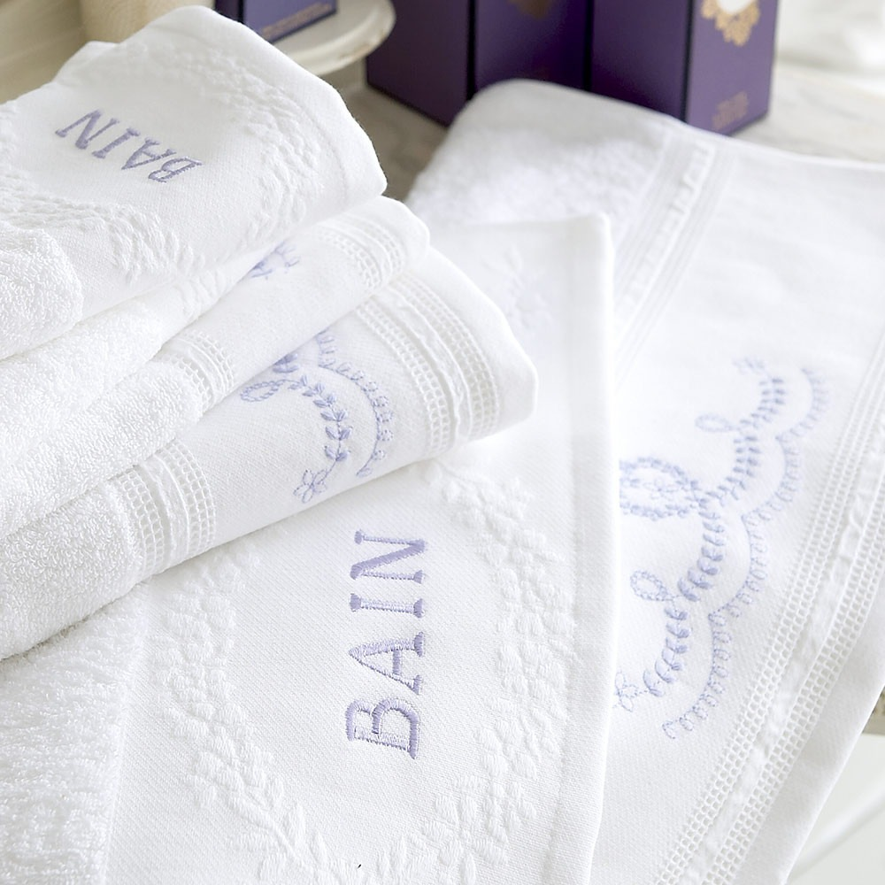 Odette Hyacinth Blue Hand and Guest Towels