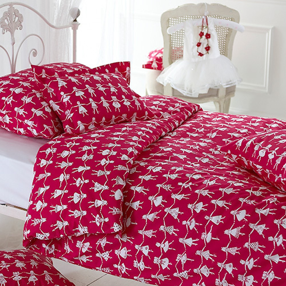Pink Dancers Printed Children's Bedlinen