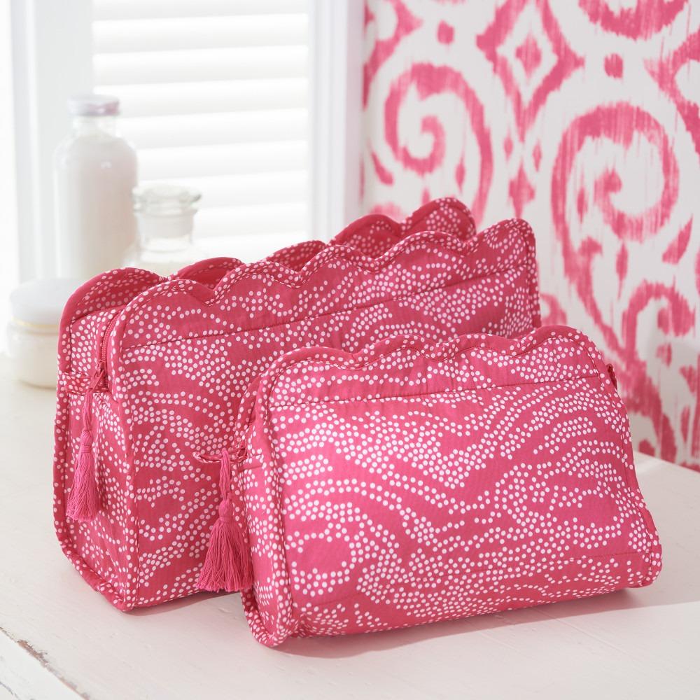 Pink Spot Block Printed Washbags