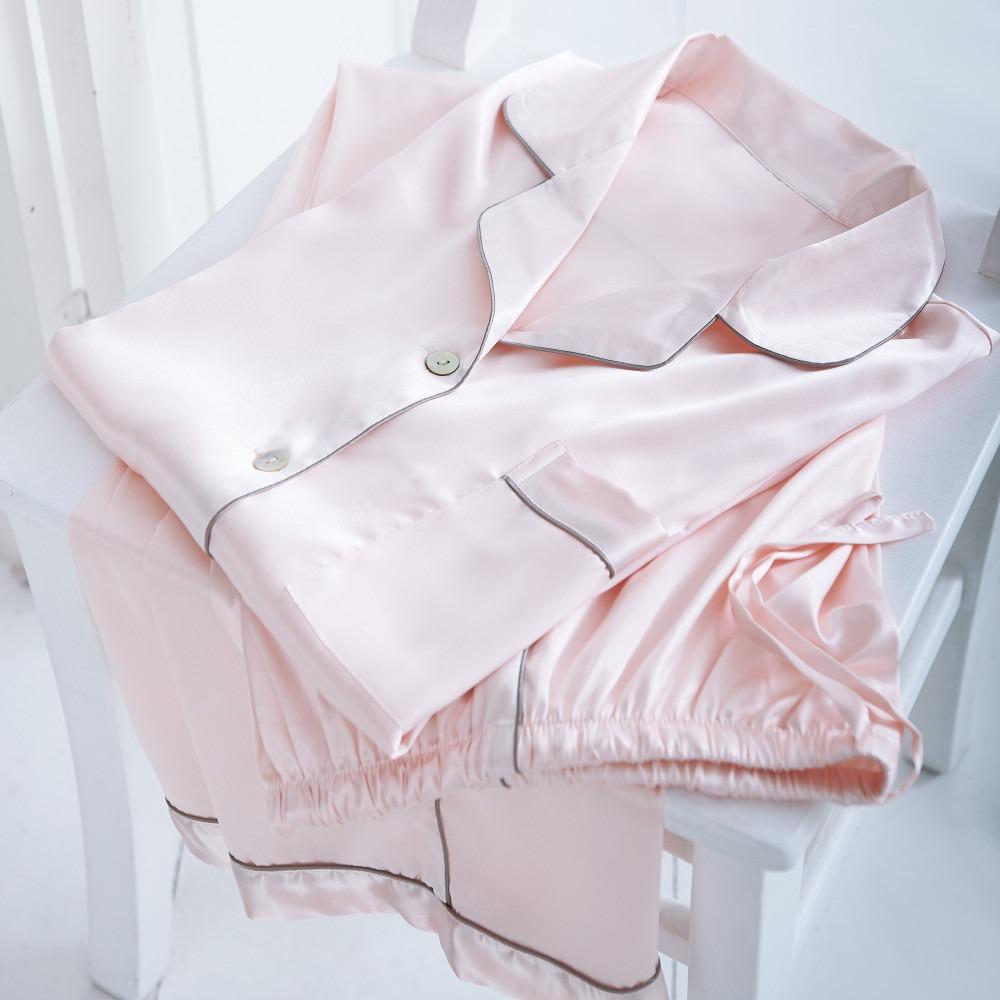 Pink Satin Pyjamas