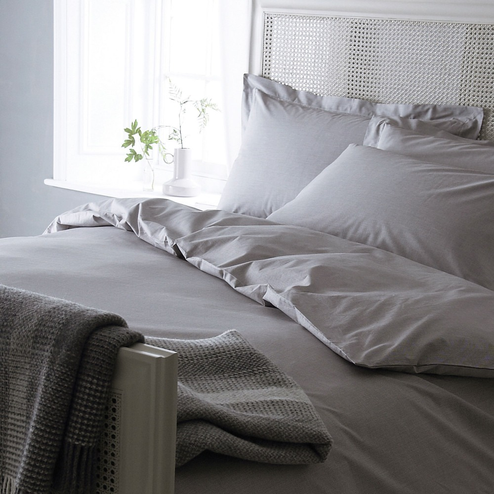 Grey Dogtooth Bedlinen