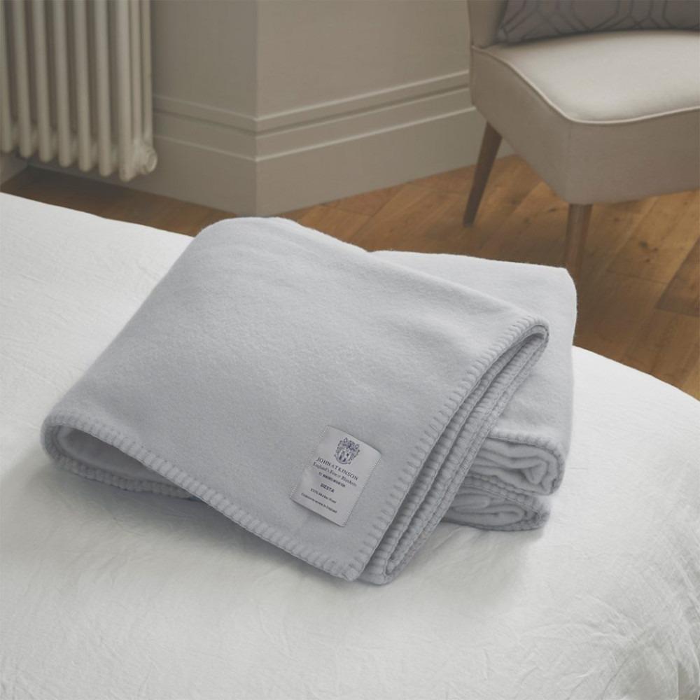 Siesta Blanket Soft Grey Pure Wool