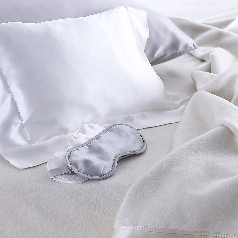 Pure silk ivory baby blanket 75 x 100cm