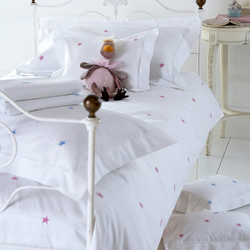 Children's Starry Embroidered Bedlinen
