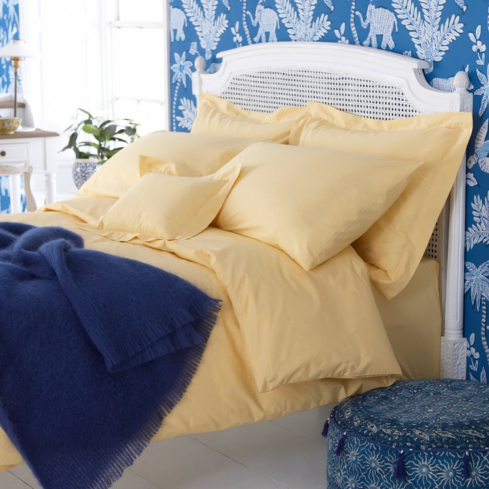 Yellow Dogtooth Cotton Bedlinen