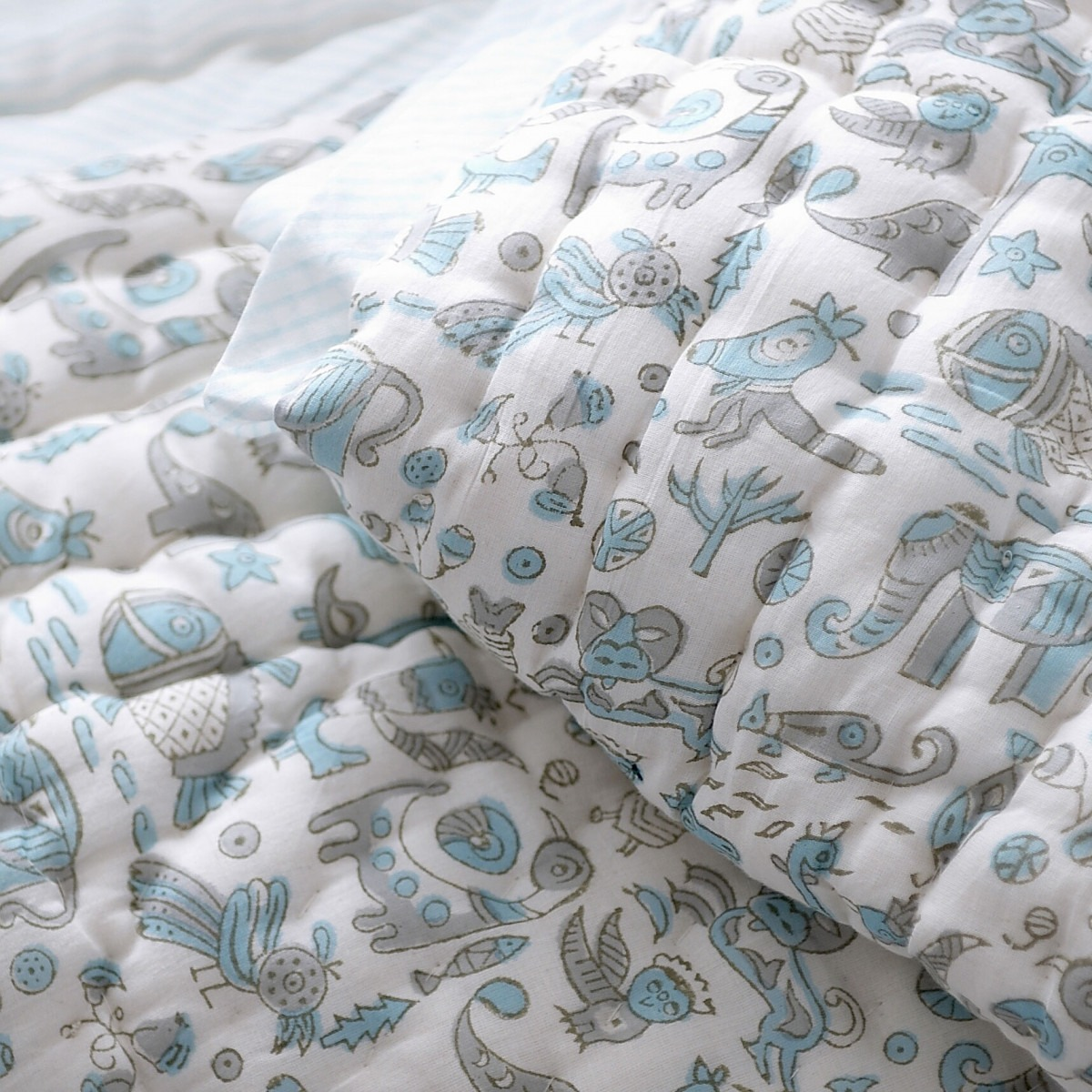 Animals Print Baby Quilts