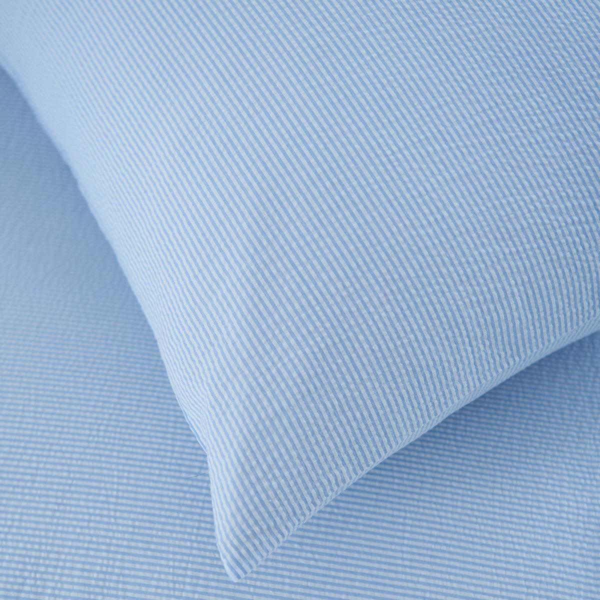 Blue Seersucker Bedlinen