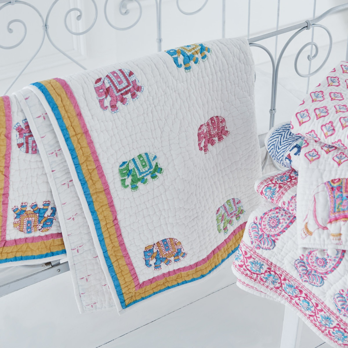 Playtime Elephants Cot Bed Quilt