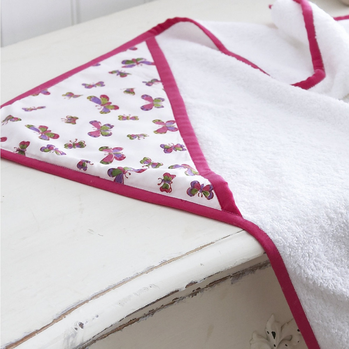 Butterfly baby towel