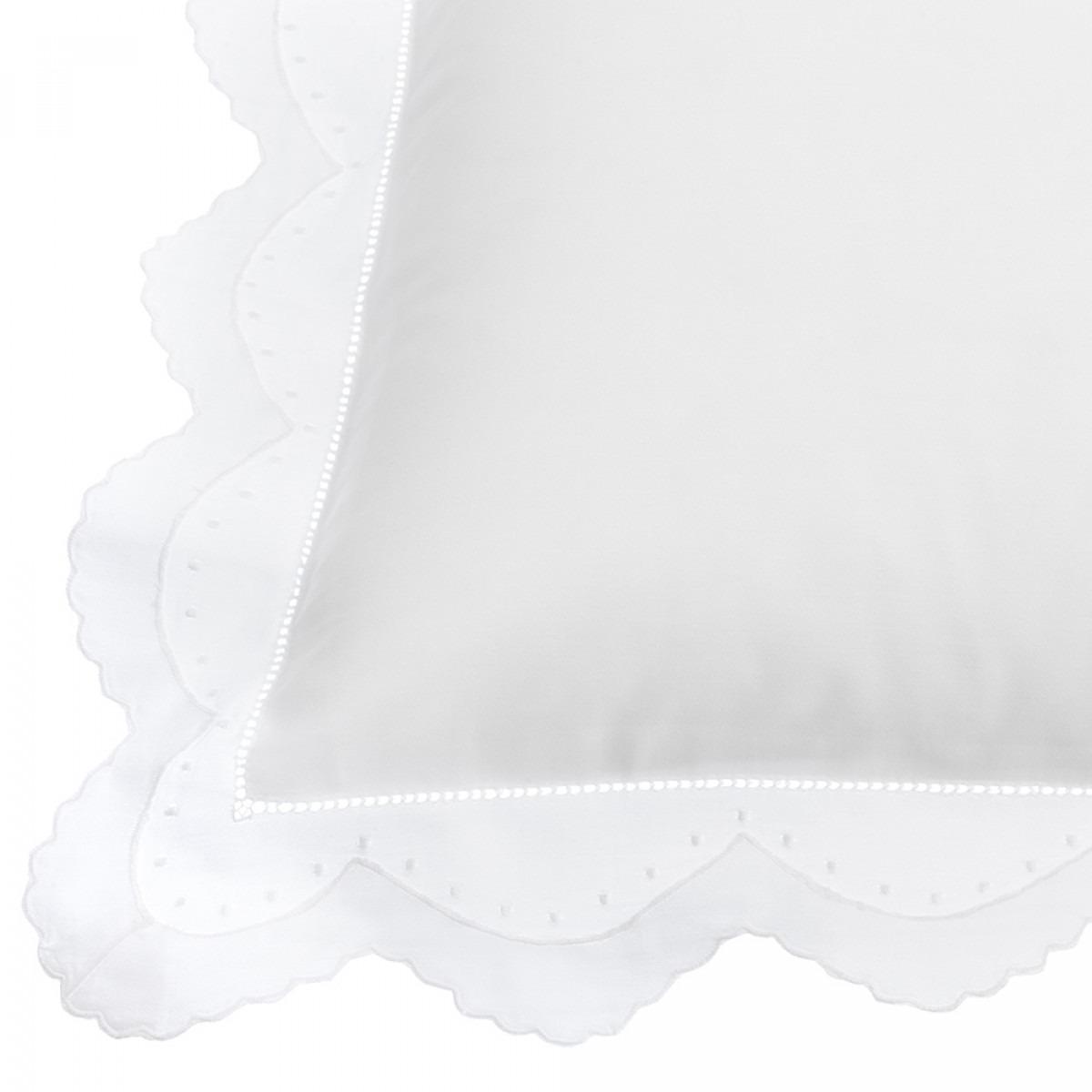 Eugenie White Pillowcase