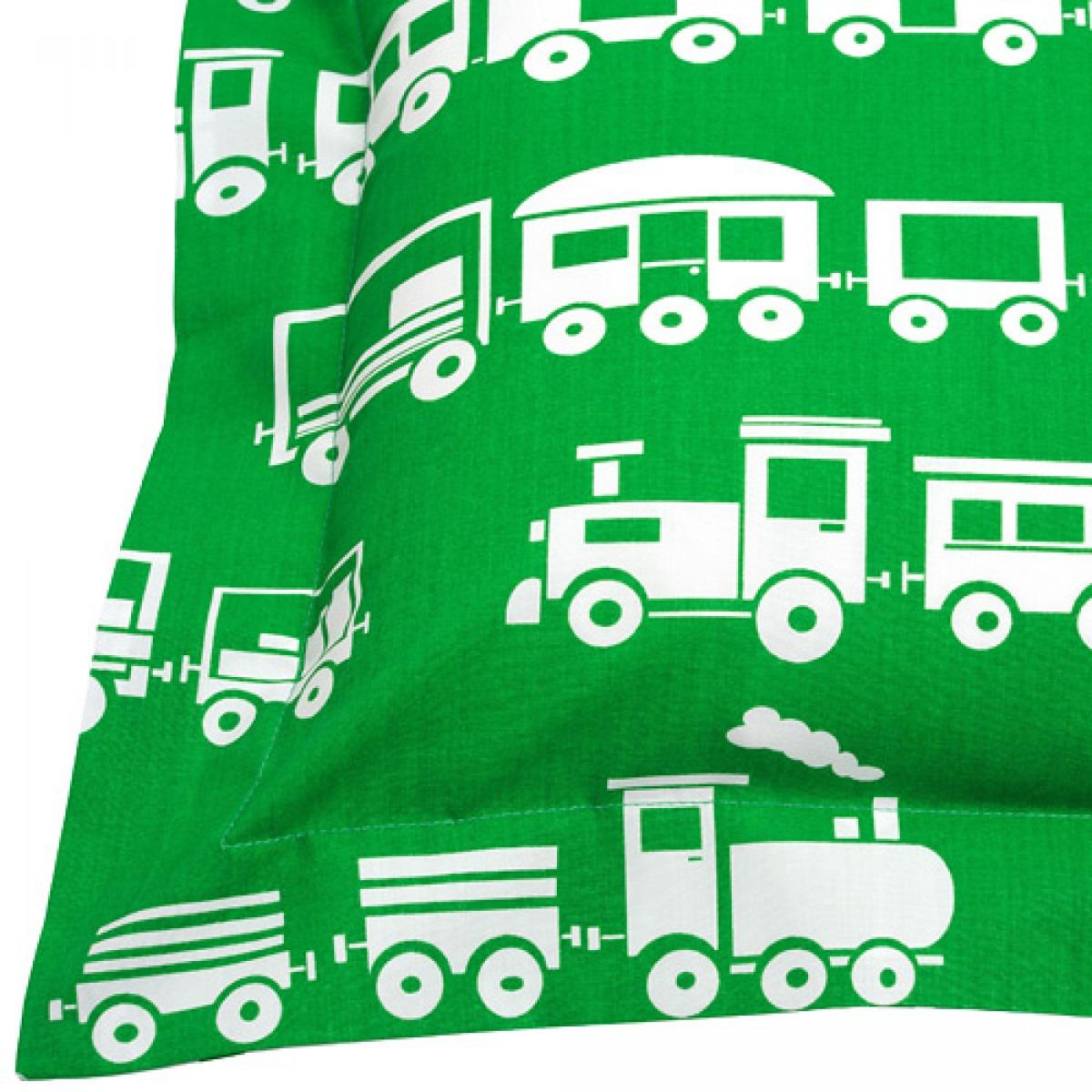 Green Trains Printed Children's Bedlinen