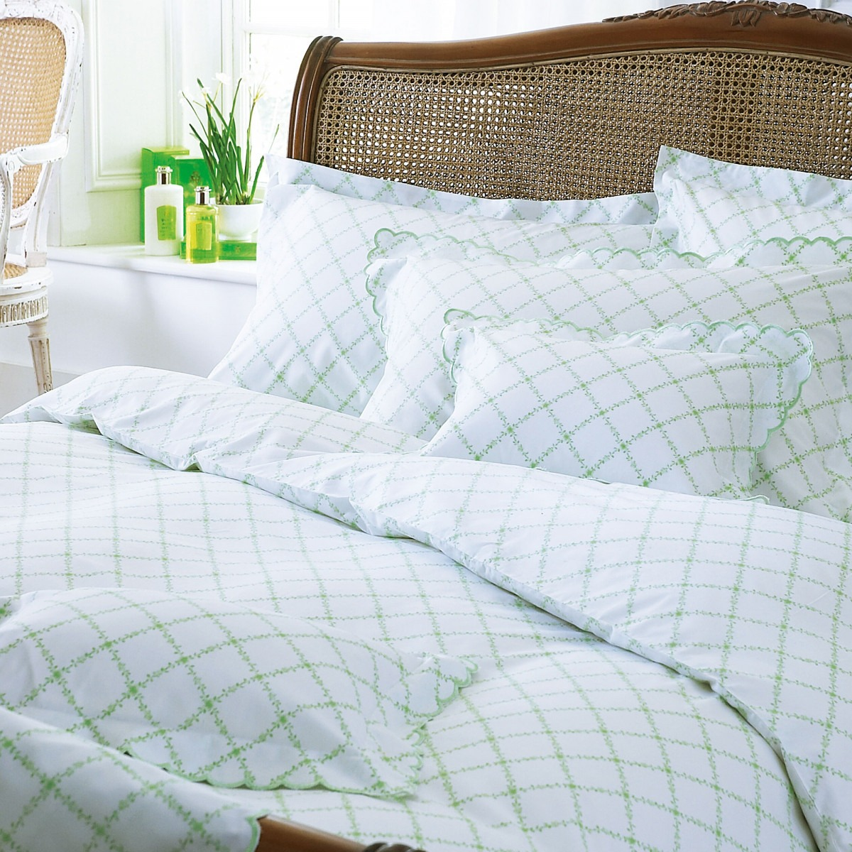 Green Mirabelle Egyptian Cotton Bed Linen