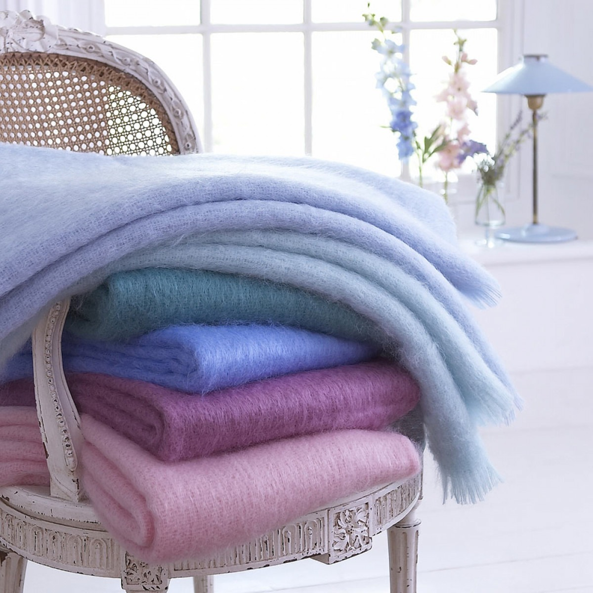 Jewel Colour Mohair Throw Thumbnail