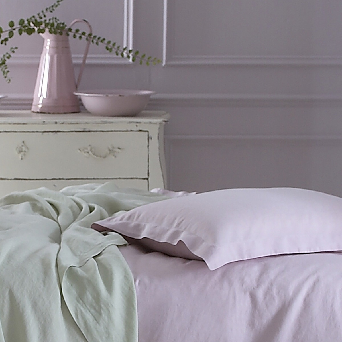 Pure Washed Linen Soft Pink