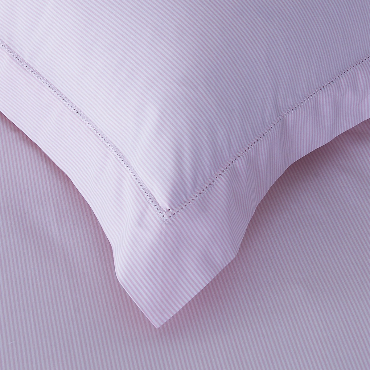 Pink Salcombe Stripe Cotton Bedlinen