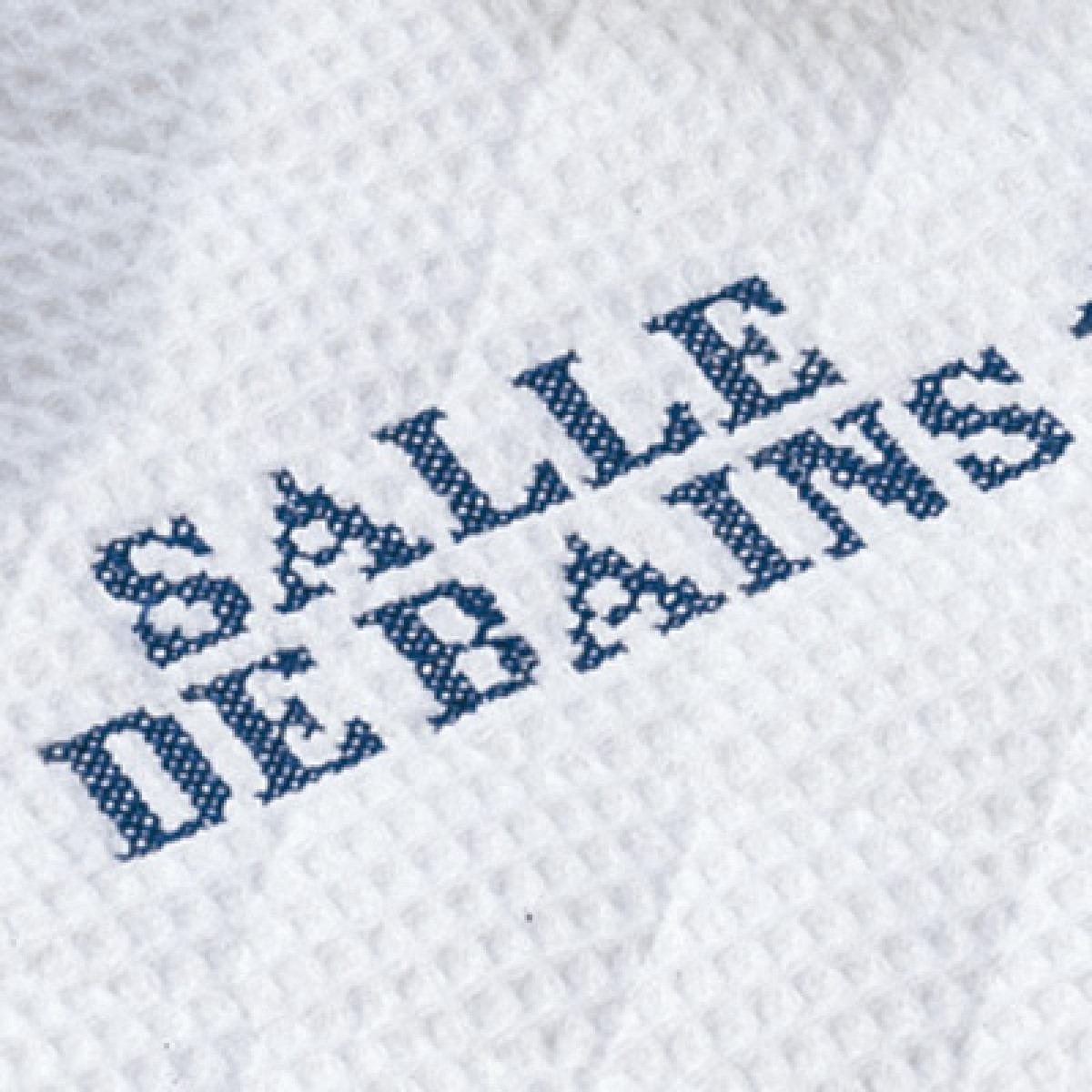 Salle De Bains bath mat, guest towel and slippers