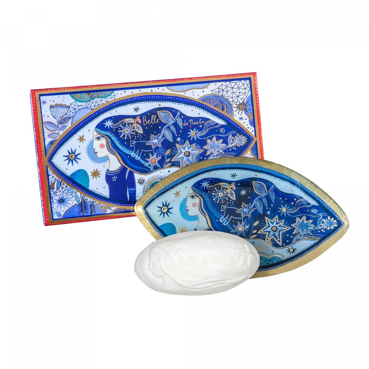 Fragonard Belle De Nuit Soap And Soap Dish
