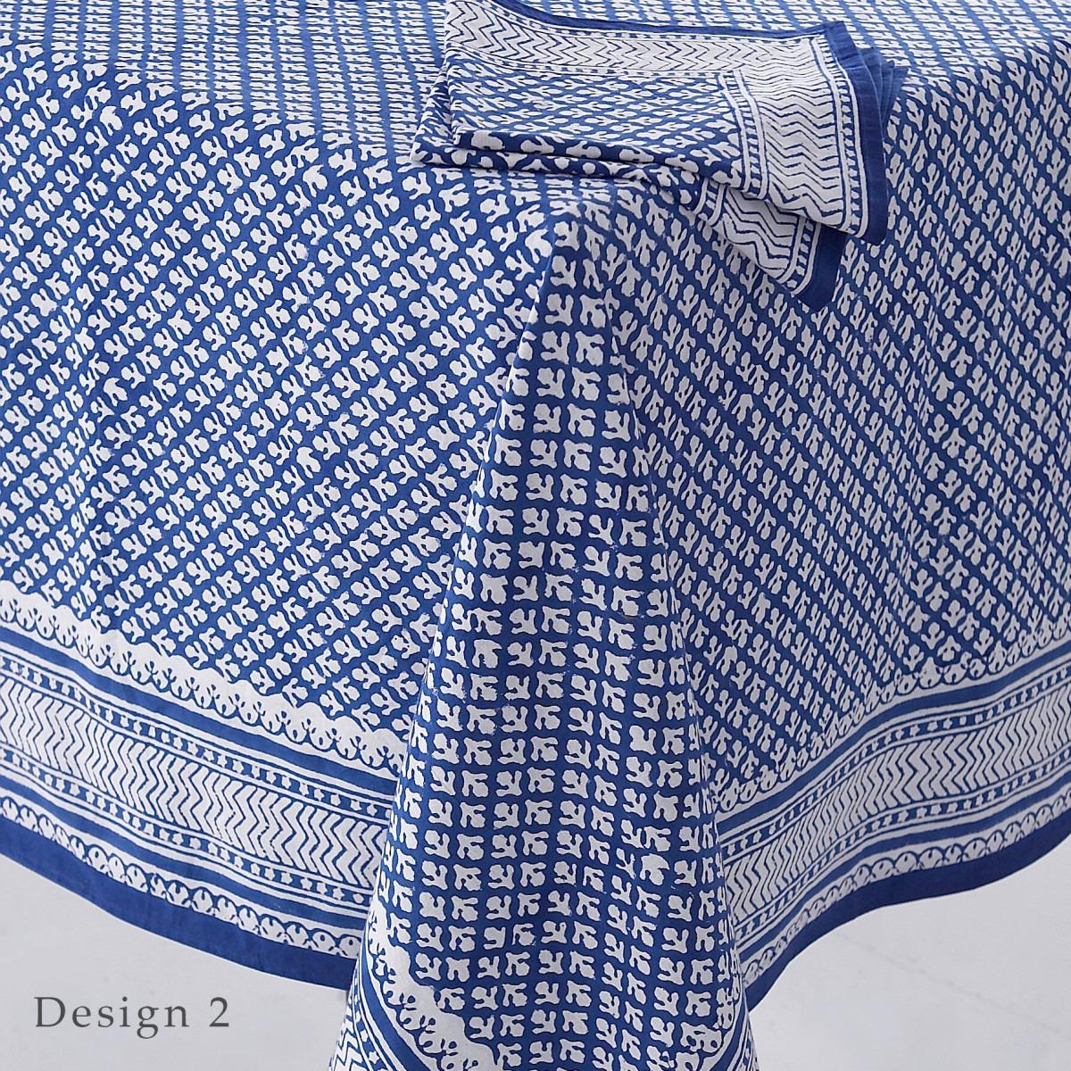 Block Printed Tablecloth Design 2