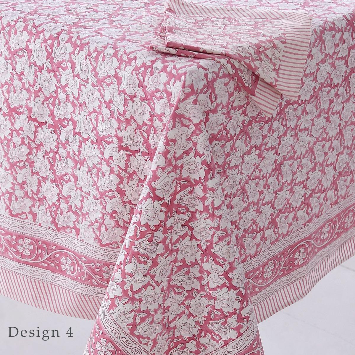 Block Printed Tablecloth Design 4