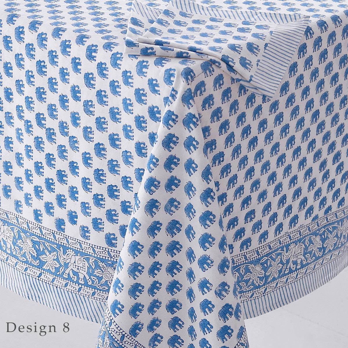 Block Printed Tablecloth Design 8