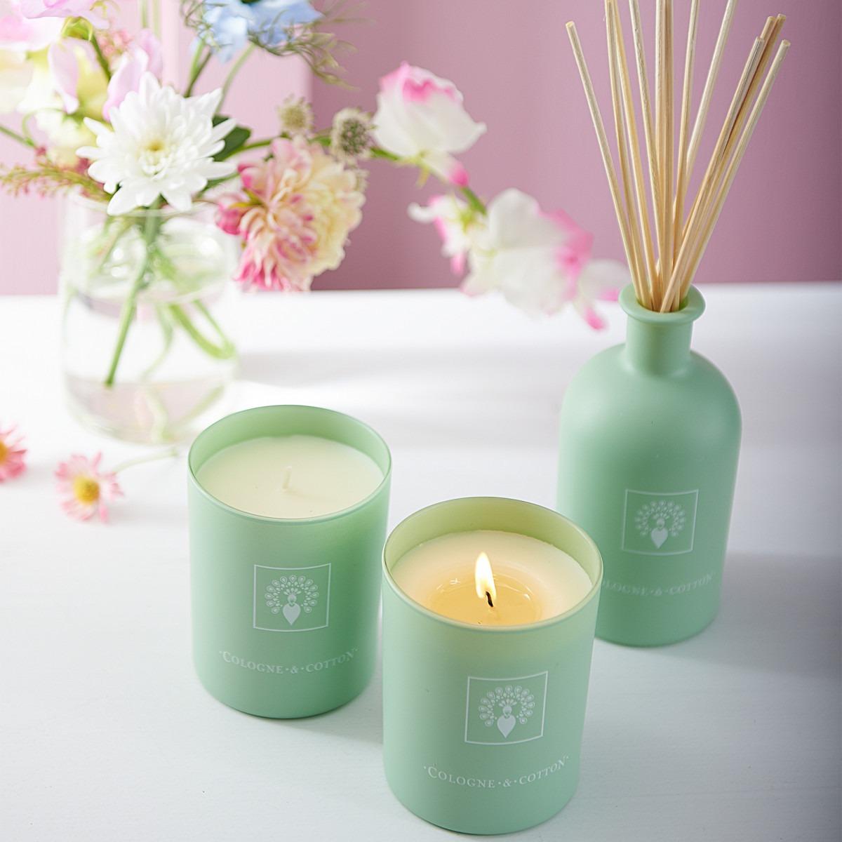 Cologne & Cotton Candle Lavender Geranium 180g