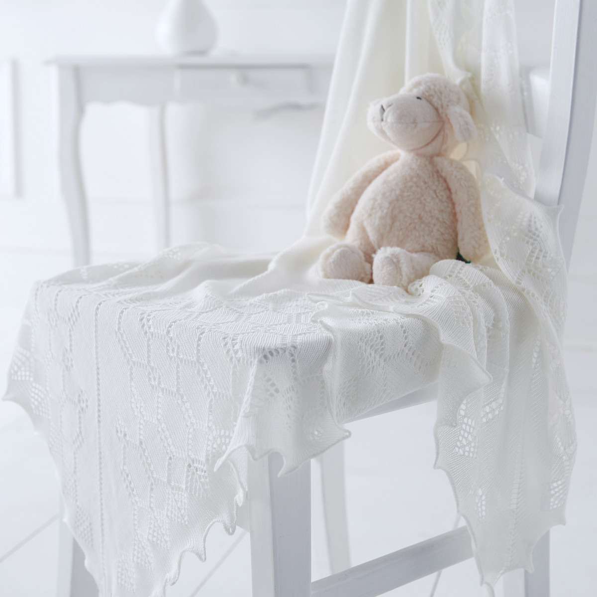 Elegant Soft Wool Baby Shawl (
