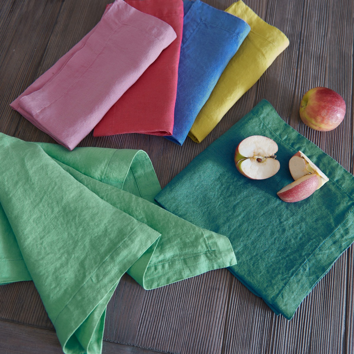 Washed Linen Bright Coloured Napkins
