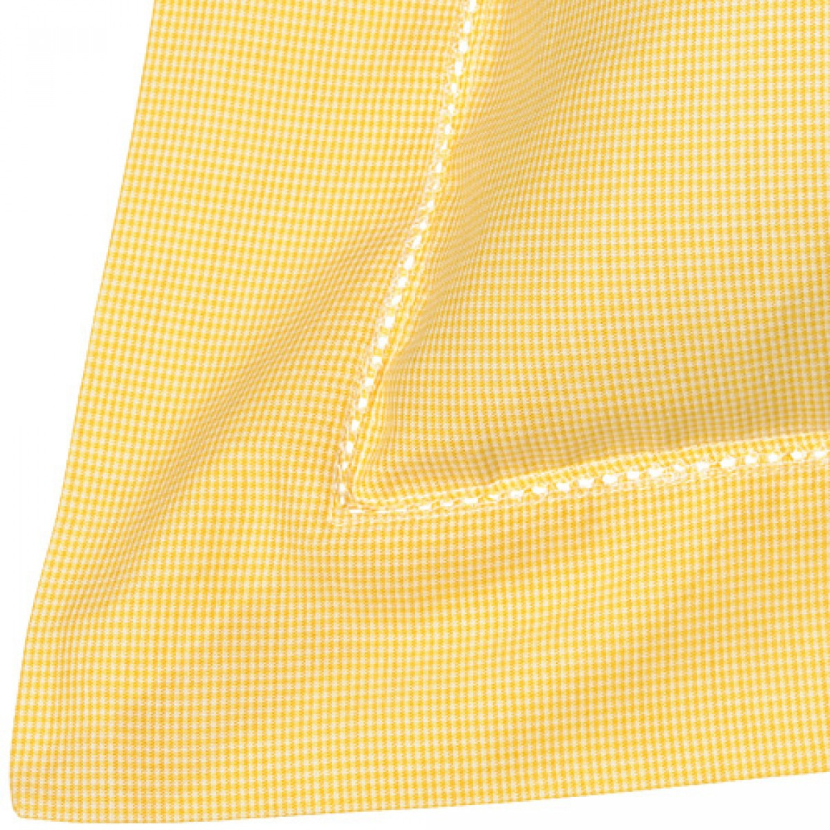 Yellow Dogtooth Cotton Bedlinen