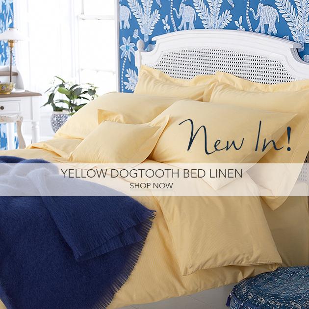 Yellow Dogtooth Bedlinen