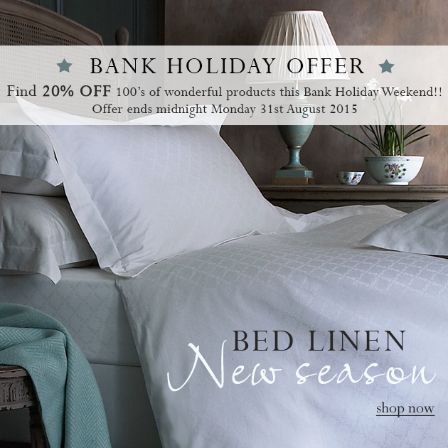 Bank Holiday Sale Offer, 20% Off