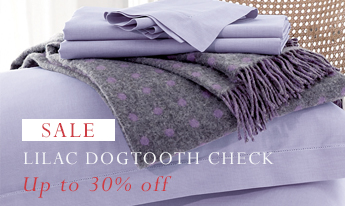 Lilac Dogtooth Pure Cotton Bed Linen