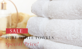 Pure White Cotton Towels