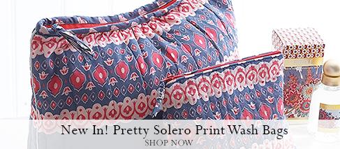 Charcoal Solero Print Wash Bags