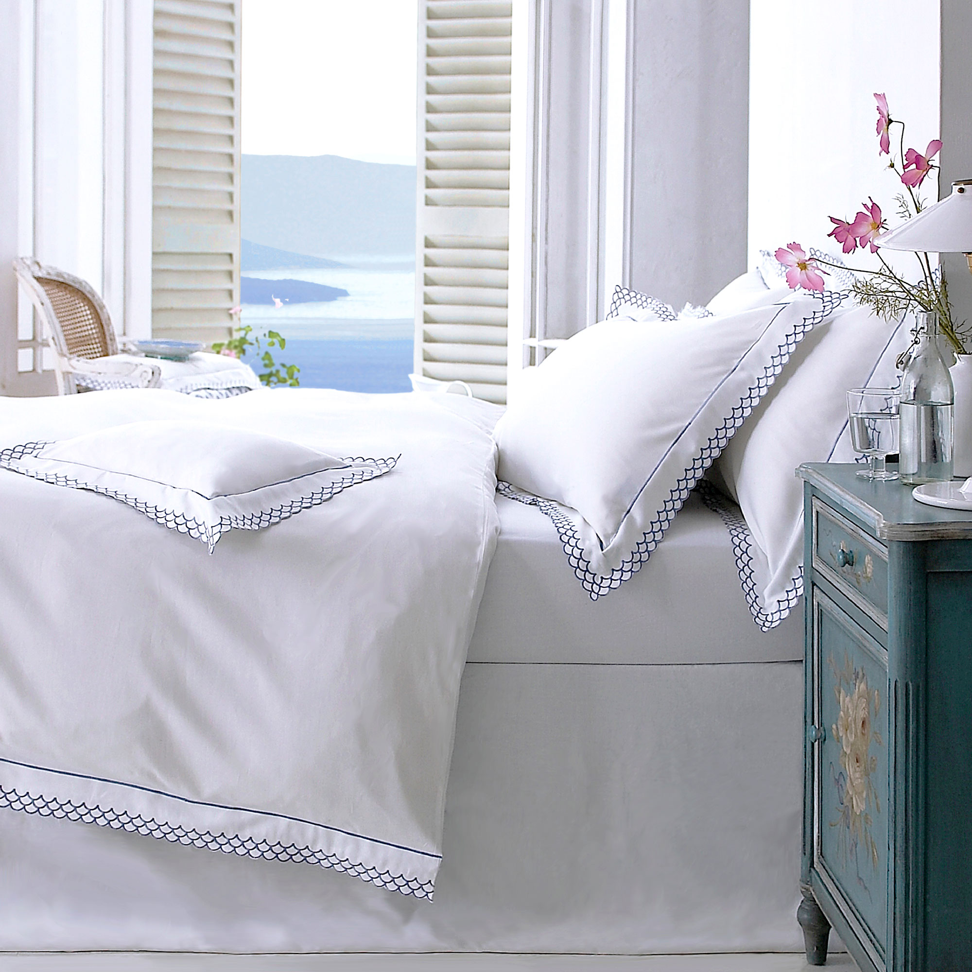 Antibes White Cotton Bedlinen