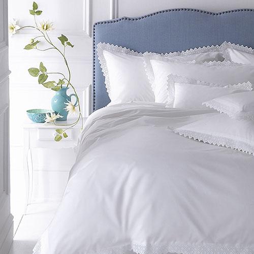 Bandol White Cotton Embroidered Bedlinen