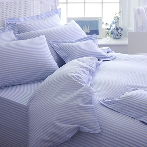 Blue Candy Cotton Stripe Bedlinen