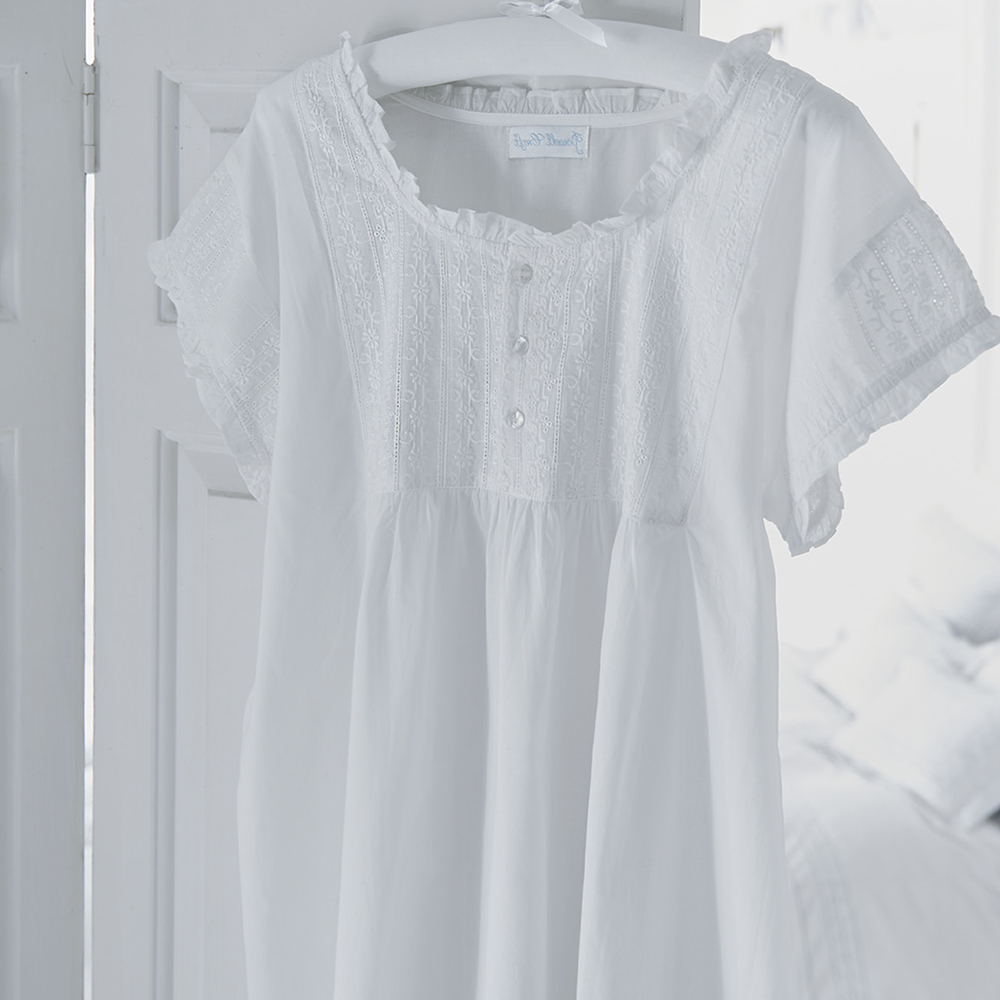 Pure Cotton White Nightdress