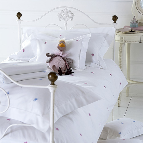 Children's Starry White Bedlinen