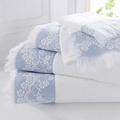 Blue Riviera Cotton Towels